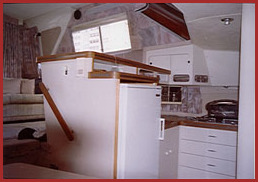 10.8 meter galley and salon